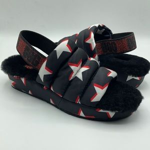 UGG Puff Yeah Satin Black Stars House Slippers